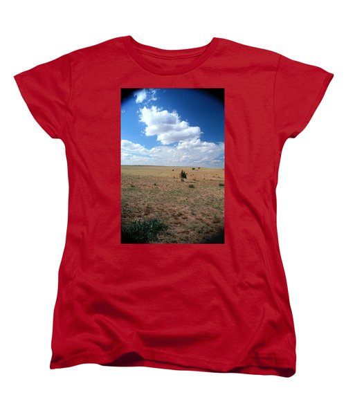 Women's T-Shirt (Standard Cut) featuring the photograph Somewhere Off The Interstate In New Mexico by Lon Casler Bixby
