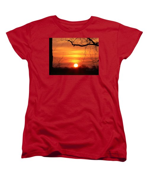 Women's T-Shirt (Standard Cut) featuring the photograph Sunrise In Tennessee by EricaMaxine  Price
