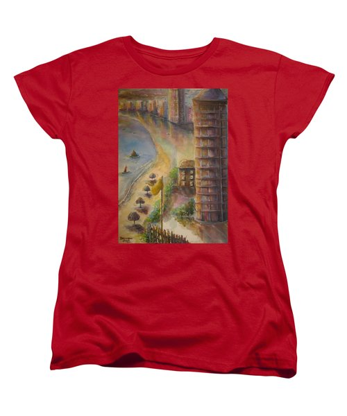 Sunset Beach Women's T-Shirt (Standard Cut) by Bernadette Krupa