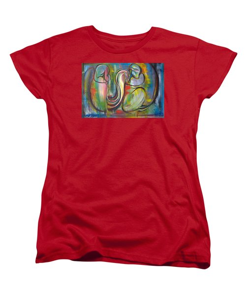 2 Snails And 3 Elephants Women's T-Shirt (Standard Cut) by Sheridan Furrer