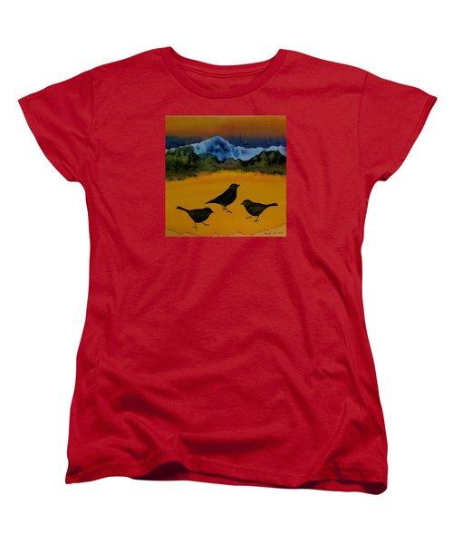 3 Blackbirds Women's T-Shirt (Standard Cut) by Carolyn Doe