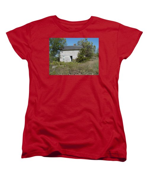 Women's T-Shirt (Standard Cut) featuring the photograph Abandoned by Bonfire Photography