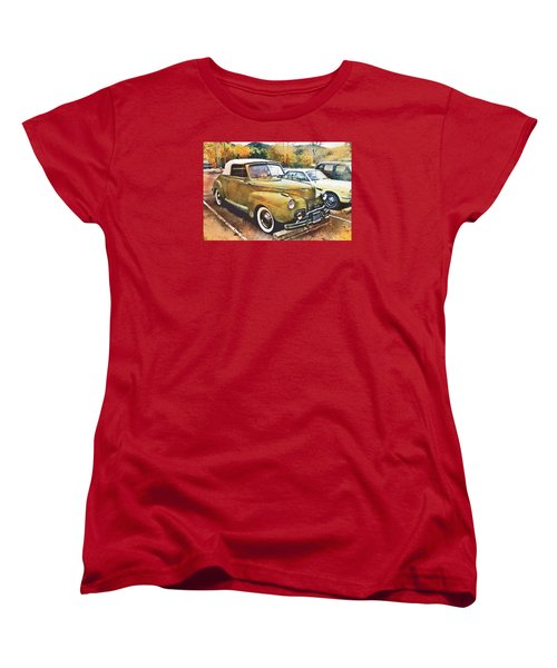 Women's T-Shirt (Standard Cut) featuring the digital art Antique Car  by Mary Almond