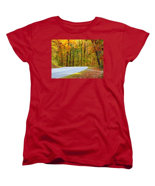 Women's T-Shirt (Standard Cut) featuring the photograph Autumn Drive by Lydia Holly