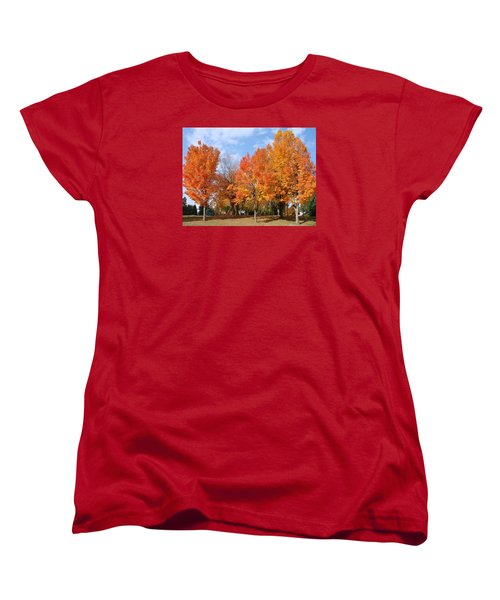 Women's T-Shirt (Standard Cut) featuring the photograph Autumn Leaves by Athena Mckinzie