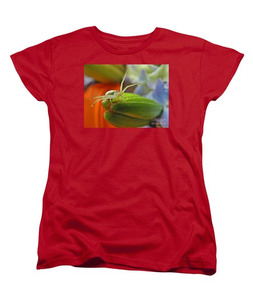 Women's T-Shirt (Standard Cut) featuring the photograph Back Off by Debbie Portwood