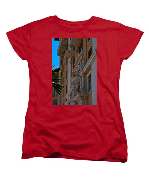 Women's T-Shirt (Standard Cut) featuring the photograph Balcony At The Biltmore Hotel by Ed Gleichman