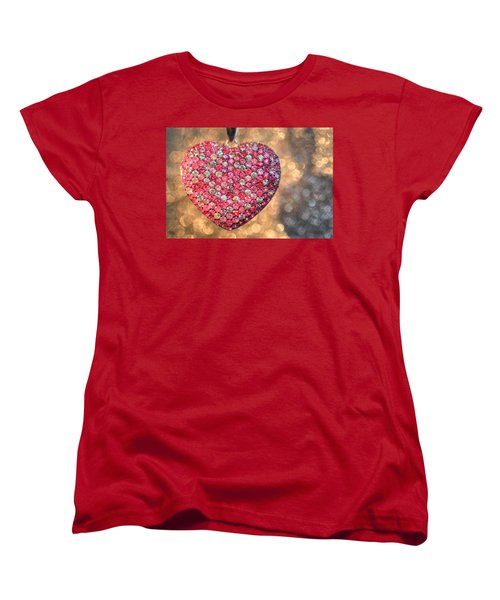 Bedazzle My Heart Women's T-Shirt (Standard Cut) by Shelley Neff