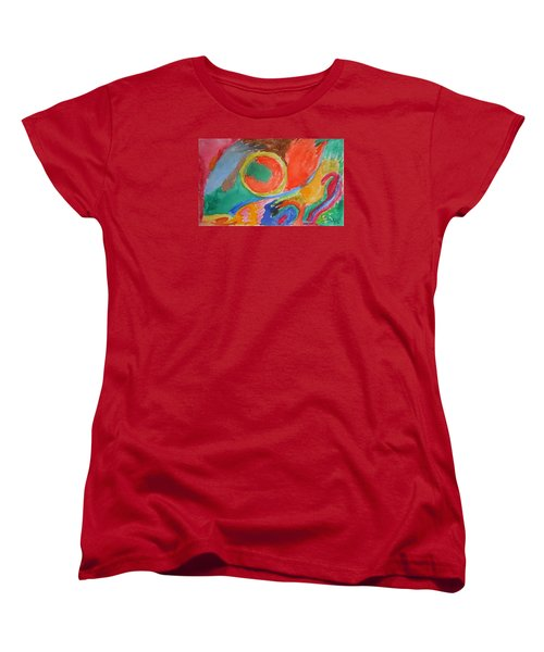 Women's T-Shirt (Standard Cut) featuring the painting Before Conception by Francine Frank