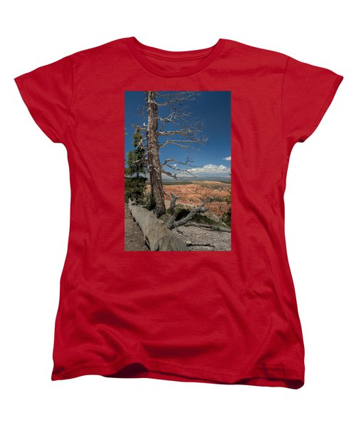 Bryce Canyon - Dead Tree Women's T-Shirt (Standard Cut) by Larry Carr