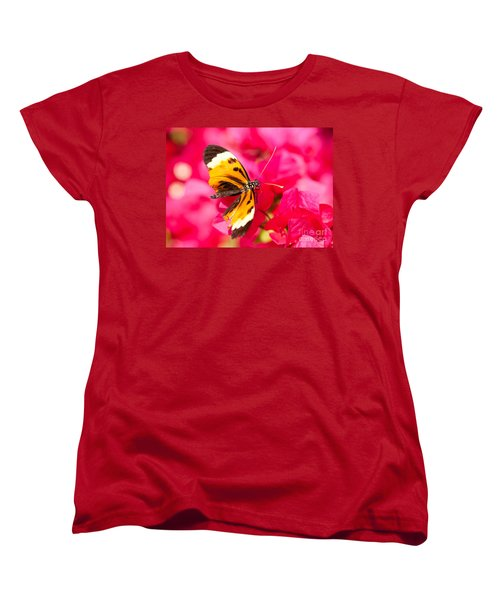 Women's T-Shirt (Standard Cut) featuring the photograph Butterfly by Les Palenik