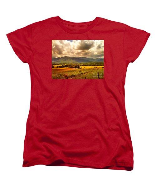 Cades Cove Women's T-Shirt (Standard Cut) by Janice Spivey