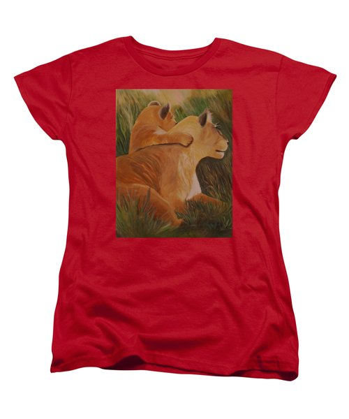 Cat Family Women's T-Shirt (Standard Cut) by Christy Saunders Church