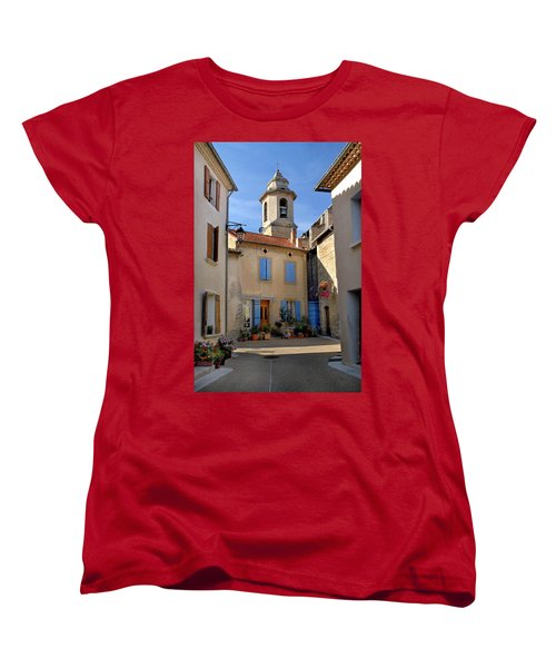 Women's T-Shirt (Standard Cut) featuring the photograph Church Steeple In Provence by Dave Mills