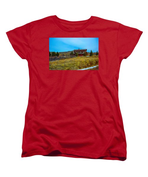 Women's T-Shirt (Standard Cut) featuring the photograph Co. Farm by Shannon Harrington