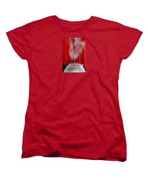 Women's T-Shirt (Standard Cut) featuring the photograph Coffee Time by Nareeta Martin