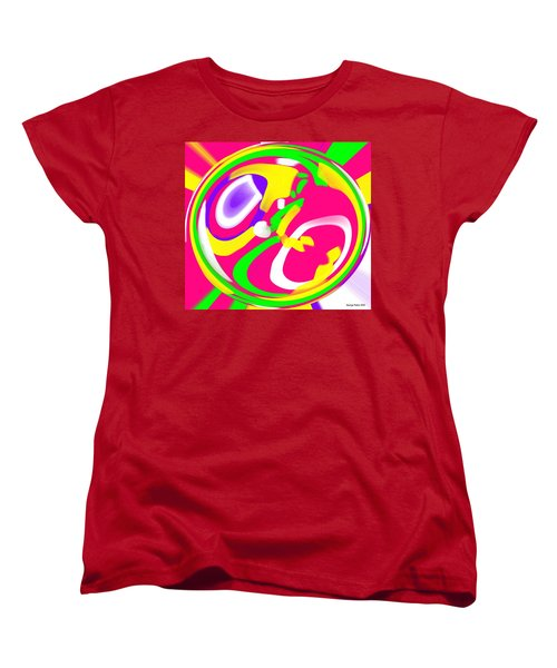 Women's T-Shirt (Standard Cut) featuring the digital art Color Roundup by George Pedro