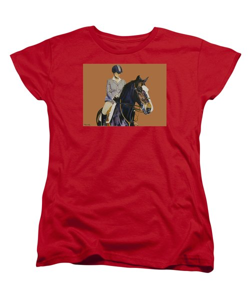 Concentration - Hunter Jumper Horse And Rider Women's T-Shirt (Standard Cut) by Patricia Barmatz