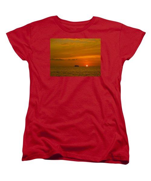 Women's T-Shirt (Standard Cut) featuring the photograph Costa Rica Sunset by Eric Tressler