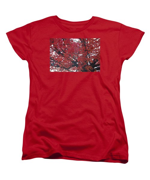 Crimson Leaves Women's T-Shirt (Standard Cut)