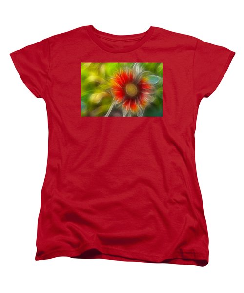 Women's T-Shirt (Standard Cut) featuring the photograph Dalia Pseudo Fractal by Lynne Jenkins