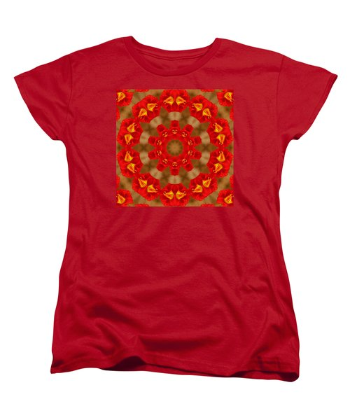 Women's T-Shirt (Standard Cut) featuring the photograph Day Lily Kaleidoscope by Bill Barber