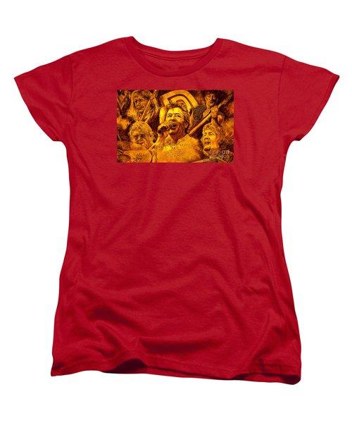 Women's T-Shirt (Standard Cut) featuring the painting Deep Purple In Rock by Igor Postash