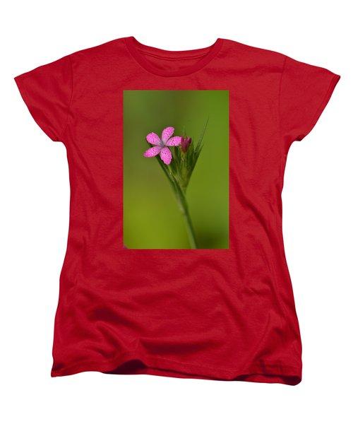 Women's T-Shirt (Standard Cut) featuring the photograph Deptford Pink by JD Grimes