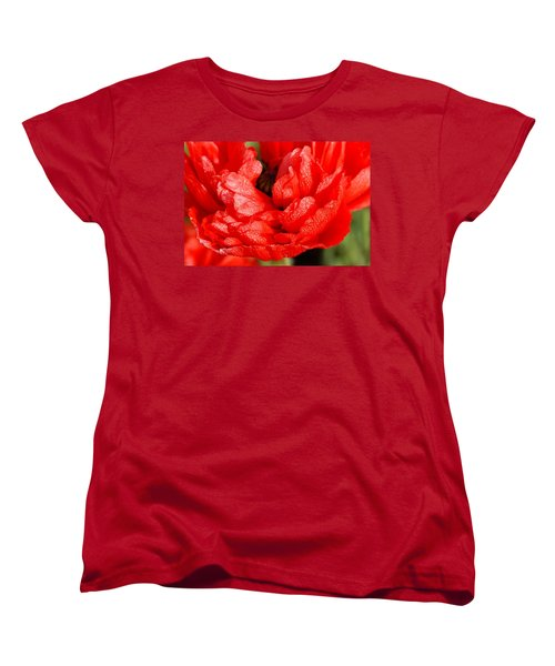 Women's T-Shirt (Standard Cut) featuring the photograph Dewdrops by Fotosas Photography