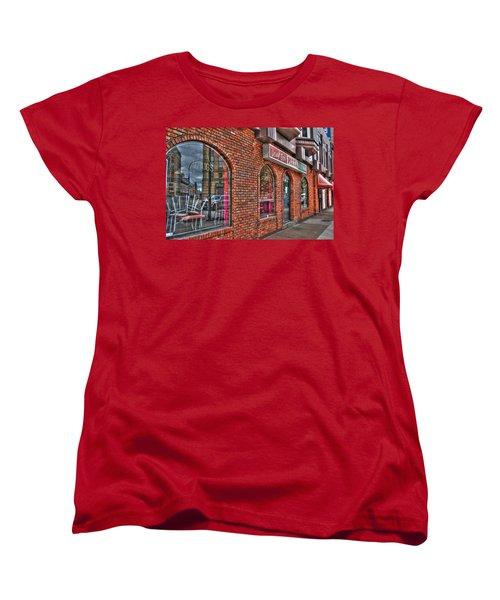 Women's T-Shirt (Standard Cut) featuring the photograph Dough Bois Pizza by Michael Frank Jr