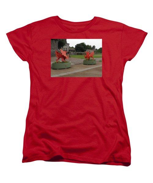 Dueling Dragons Women's T-Shirt (Standard Cut) by Ian Kowalski