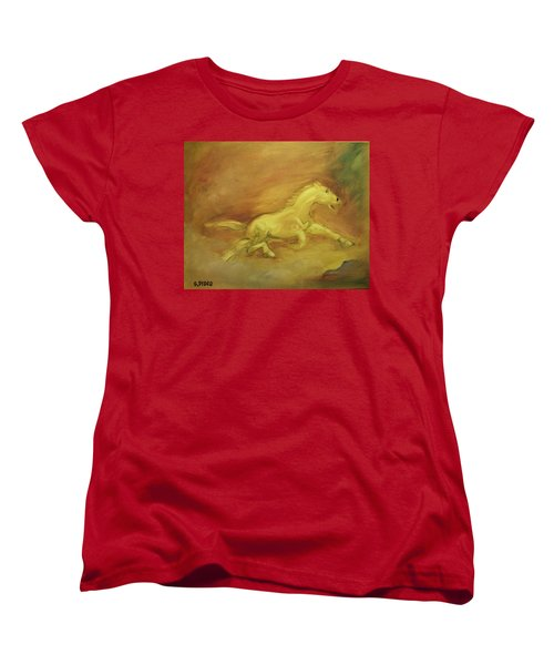 Women's T-Shirt (Standard Cut) featuring the painting Escaping The Flames by George Pedro