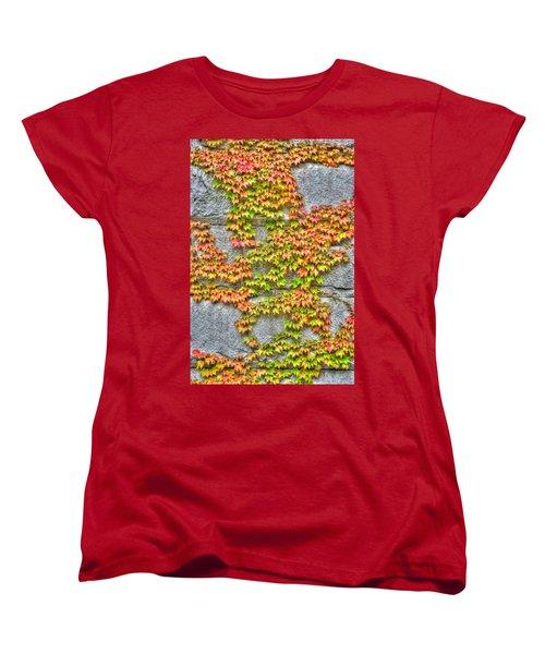 Women's T-Shirt (Standard Cut) featuring the photograph Fall Wall by Michael Frank Jr