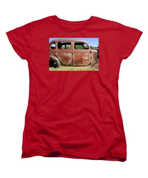 Women's T-Shirt (Standard Cut) featuring the photograph Final Destination by Fran Riley