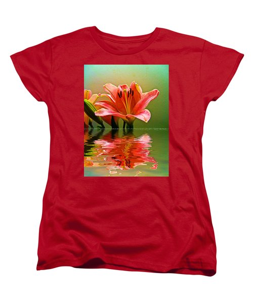 Women's T-Shirt (Standard Cut) featuring the photograph Flooded Lily by Bill Barber