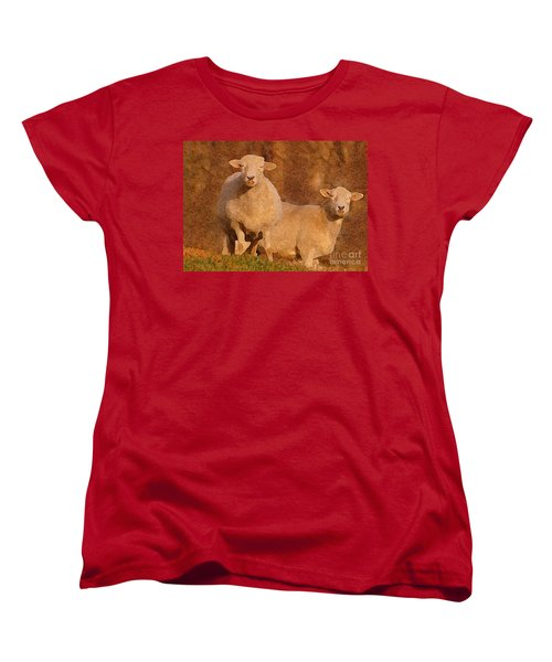 Women's T-Shirt (Standard Cut) featuring the mixed media Follow by Lydia Holly