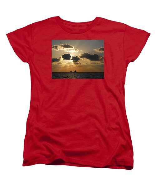 Women's T-Shirt (Standard Cut) featuring the photograph Fort Lauderdale Sunrise by Clara Sue Beym