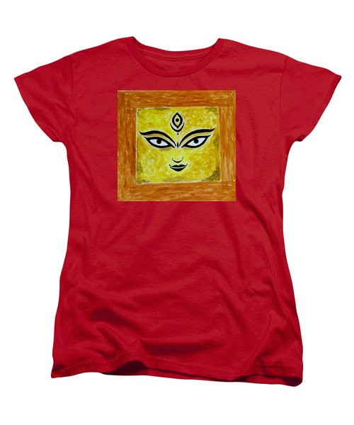 Women's T-Shirt (Standard Cut) featuring the painting Goddess Kali by Sonali Gangane