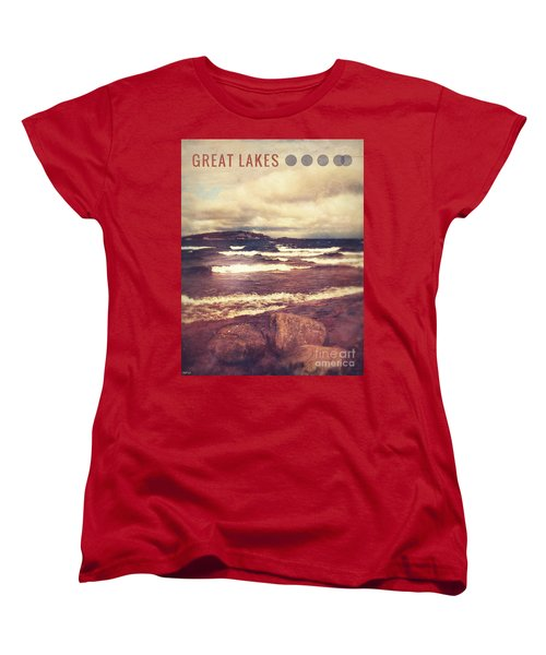 Women's T-Shirt (Standard Cut) featuring the photograph Great Lakes by Phil Perkins