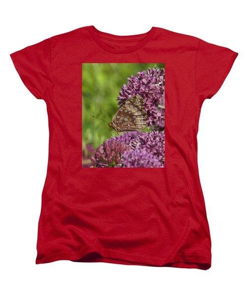 Great Spangled Fritillary Din194 Women's T-Shirt (Standard Cut) by Gerry Gantt