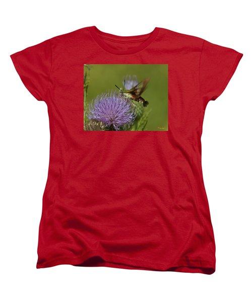 Hummingbird Or Clearwing Moth Din178 Women's T-Shirt (Standard Cut) by Gerry Gantt