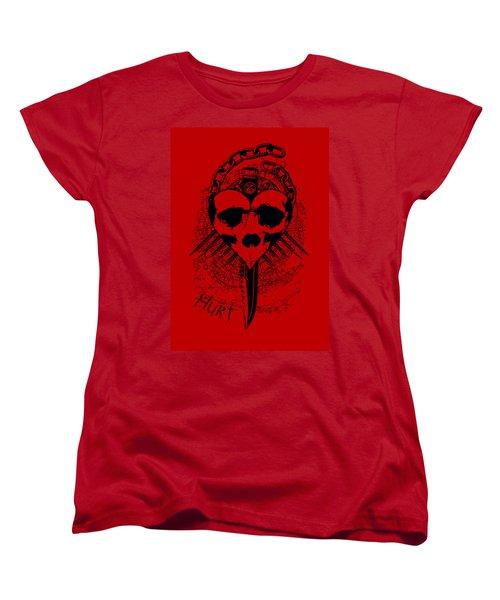 Hurt Women's T-Shirt (Standard Cut) by Tony Koehl