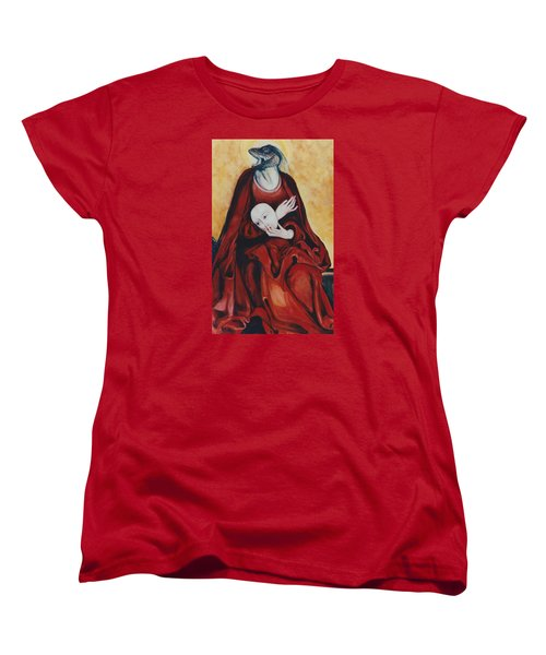 Women's T-Shirt (Standard Cut) featuring the painting Imitation Of Art by Irena Mohr
