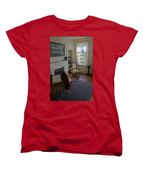 Inside Yaquina Bay Lighthouse Women's T-Shirt (Standard Cut) by Mick Anderson