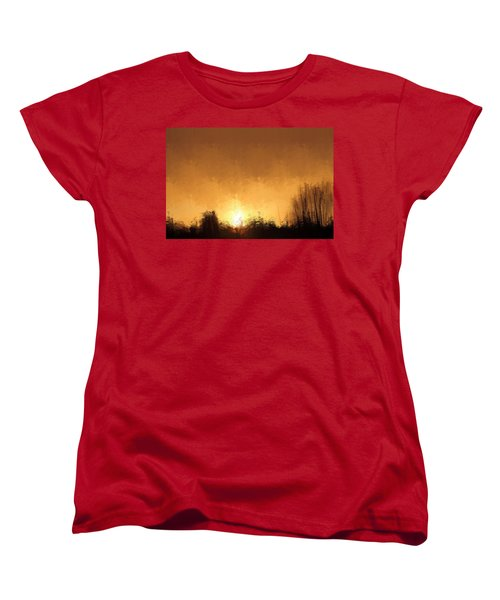 Women's T-Shirt (Standard Cut) featuring the mixed media Insomnia 1 by Terence Morrissey