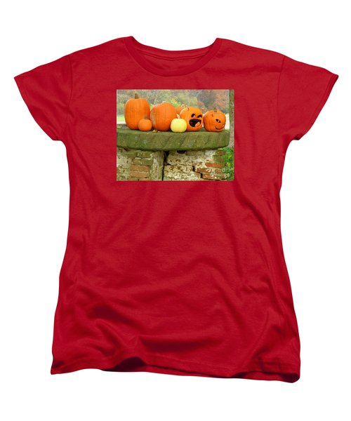 Women's T-Shirt (Standard Cut) featuring the photograph Jack-0-lanterns by Lainie Wrightson