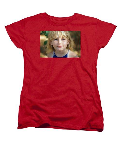 Portrait Of A Young Girl Women's T-Shirt (Standard Cut) by Mark Greenberg
