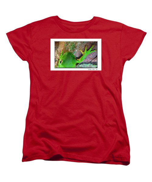 Women's T-Shirt (Standard Cut) featuring the photograph Kermit's Kuzin by Debbie Portwood