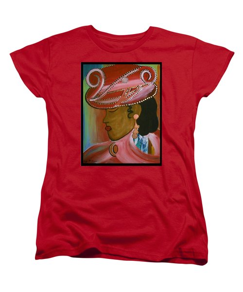 Lady In Pink Women's T-Shirt (Standard Cut) by Kelly Turner
