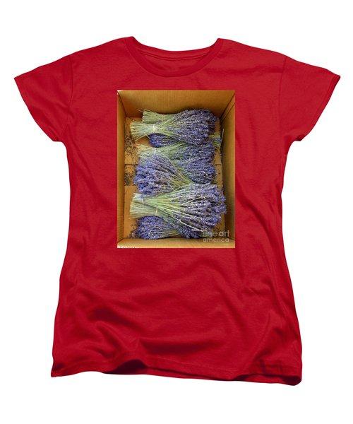 Women's T-Shirt (Standard Cut) featuring the photograph Lavender Bundles by Lainie Wrightson